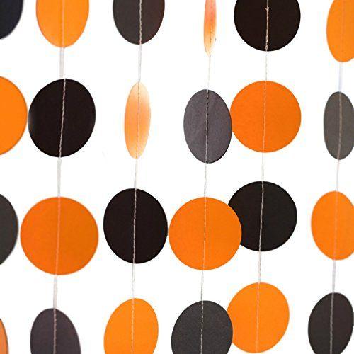 Bobee Black and Orange Halloween Party Decorations Paper - halloween party decorations cheap