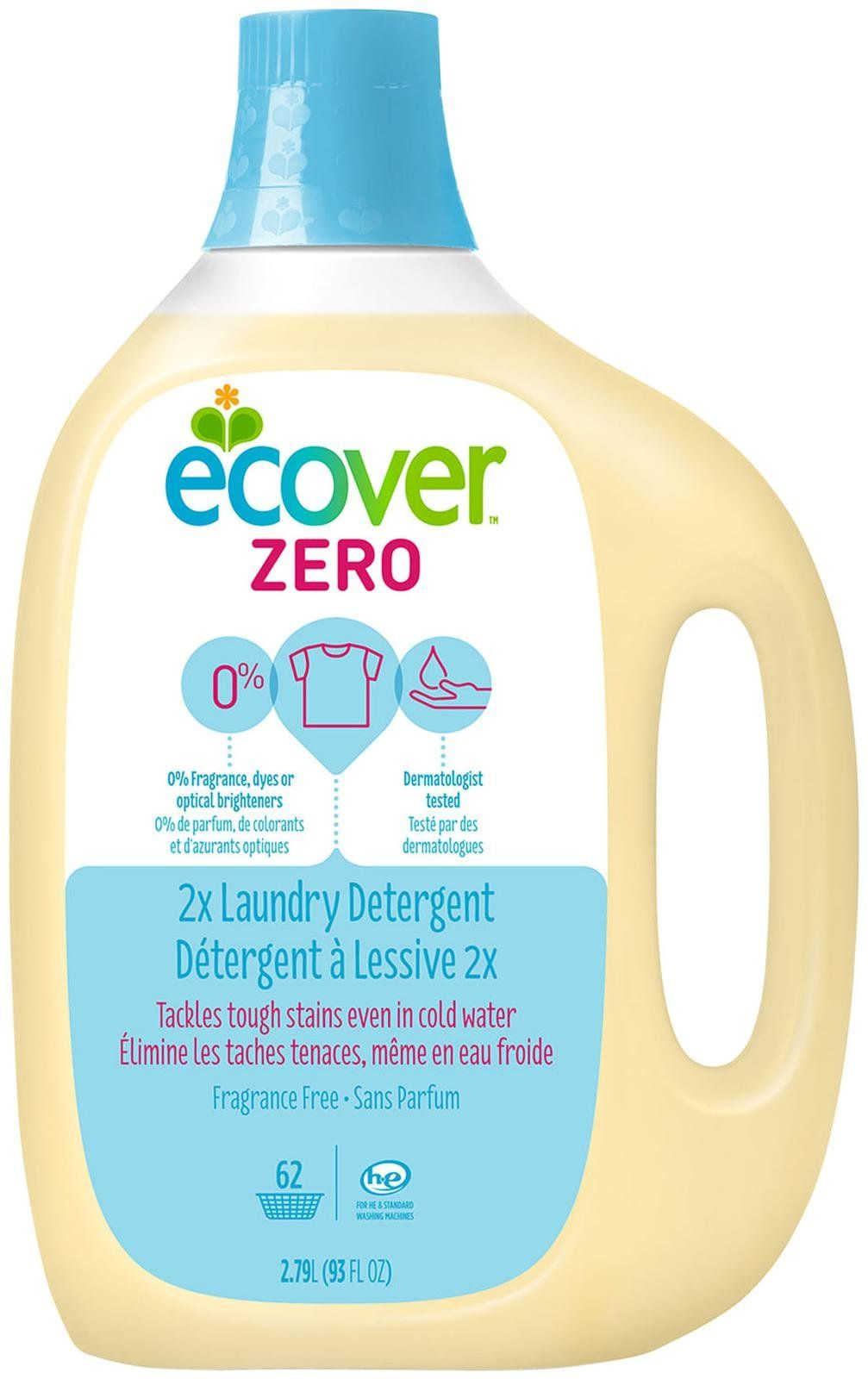 Ecover Laundry Detergent Zero Fragrance Free Products Laundry