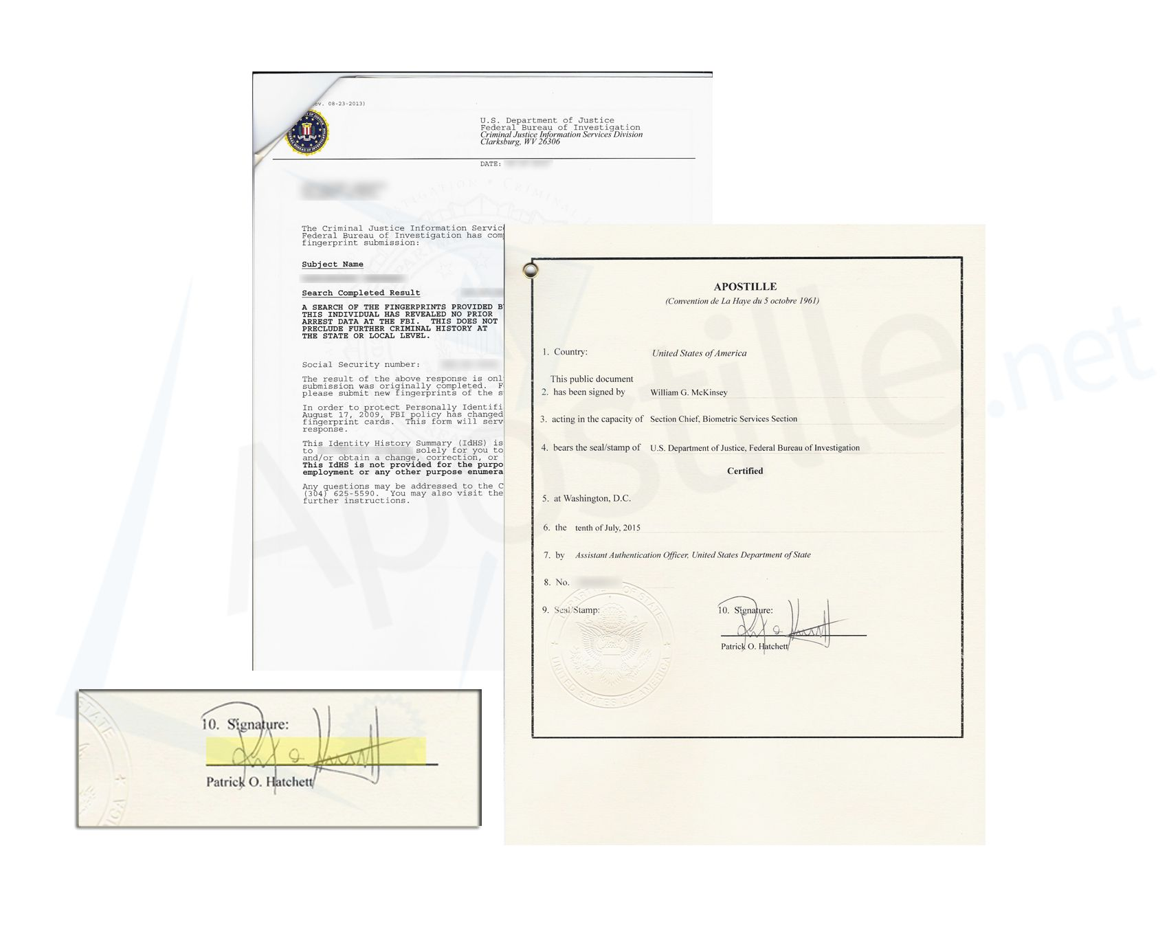 District Of Columbia Apostille Of A Fbi Background Check Signed By Patrick O Hatchett District Of Columbia Columbia Personalized Items