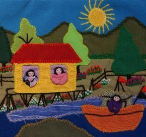 artesania en arpillera - Buscar con Google