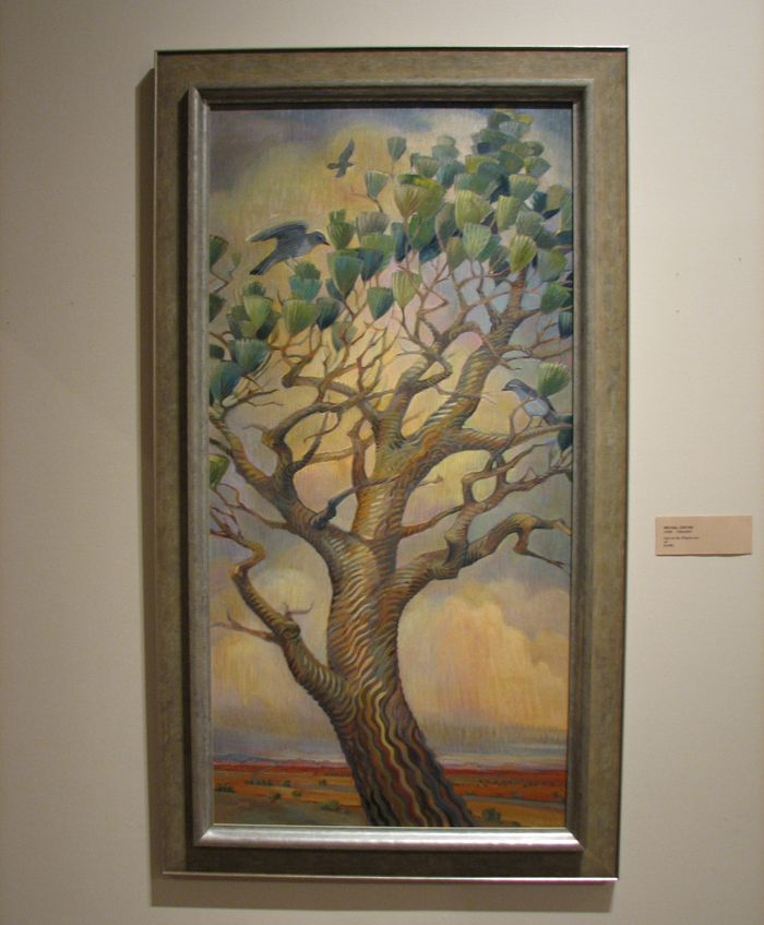 Juniper Tree, Michal Onyon. I saw it live at the Springville Museum of Art, October 2014. Lovely painting.