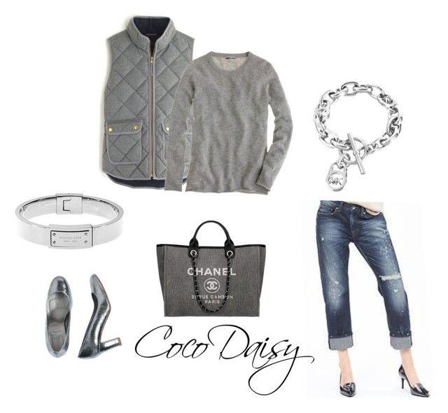 """""""Today"""" by cocodaisy ❤ liked on Polyvore featuring moda, J.Crew, Banana Republic, Chanel i Michael Kors"""