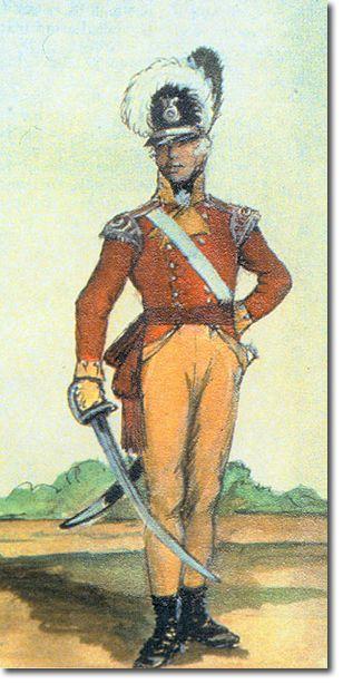 31st REGIMENT OF FOOT (HUNTINGDONSHIRE) OFICIAL DE LA COMPAÑIA LIGERA - 1801. Más en www.elgrancapitan.org/foro