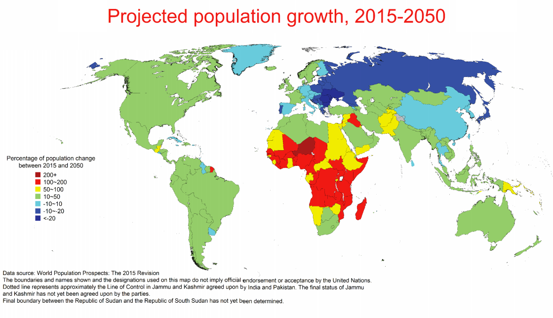 projected population growth 2015 2050 maps on the web