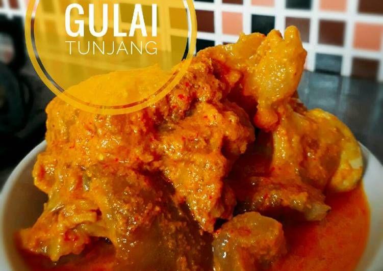 Resep Gulai Tunjang Kikil Khas Minang Oleh Ina Harahap Resep Gulai Resep Masakan Indonesia Resep