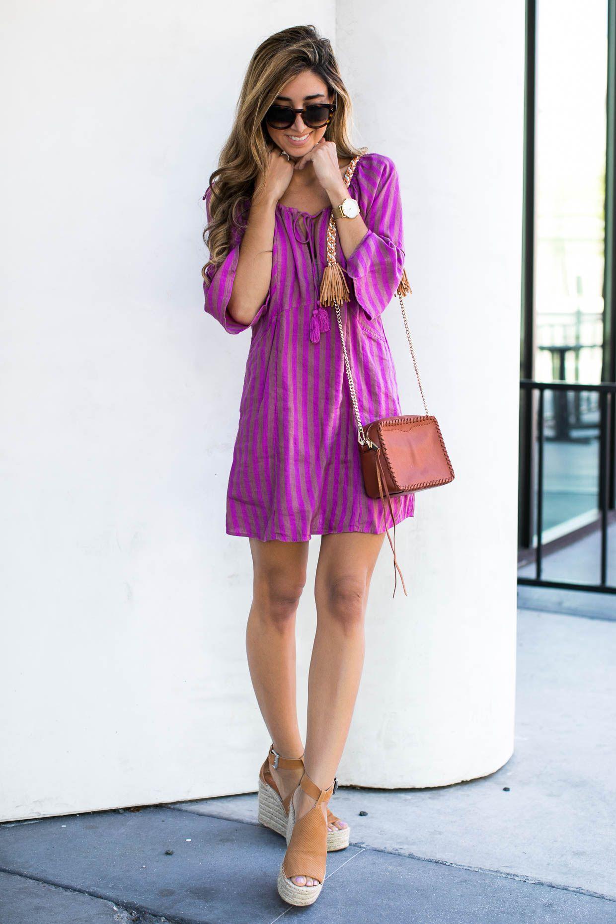 0efdc49583d4 Fashion blogger The Darling Detail wears Free People Folk Town Minidress