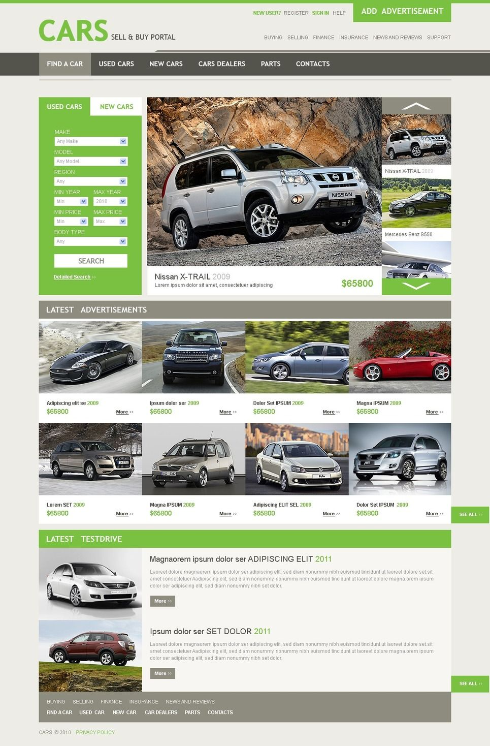 Used Car Advertisement Template