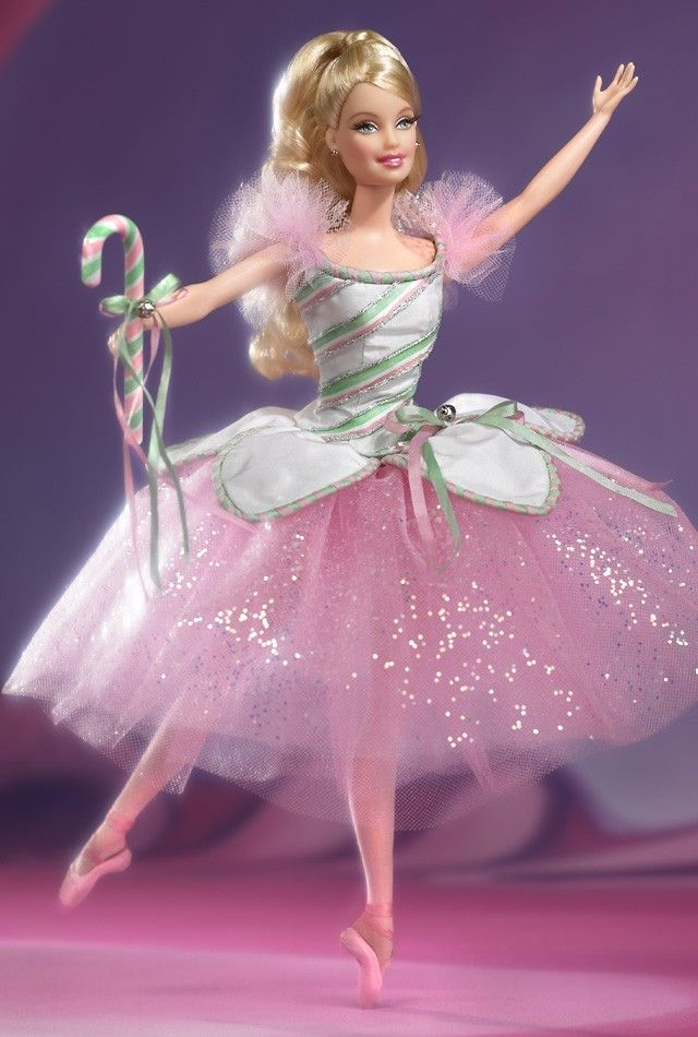 Barbie doll as peppermint candy cane ballerina in the nutcracker classic ballet series 2003 - Barbie ballerine ...