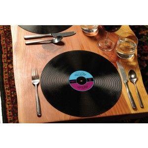set de table disque vinyle cadeaux pour la maison. Black Bedroom Furniture Sets. Home Design Ideas