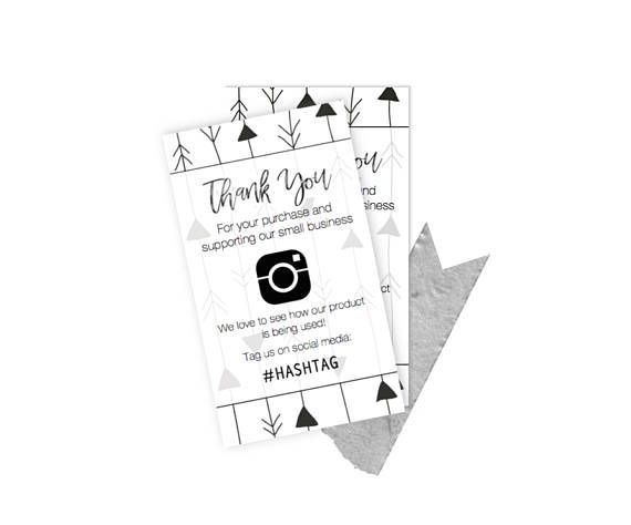customize digital file small business thank you insert cards