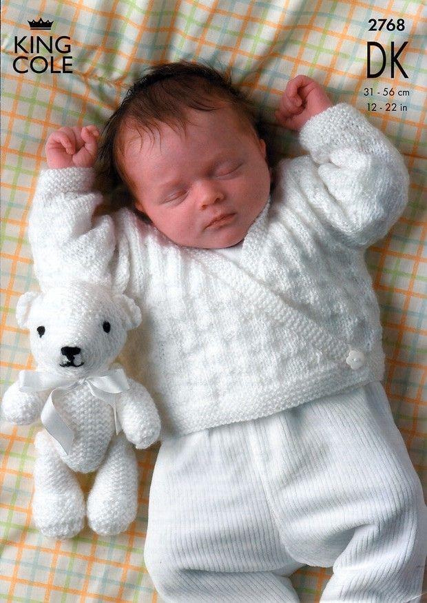 King Cole Baby DK Knitting Pattern 2768 - Sweater, Cardigans & Teddy ...