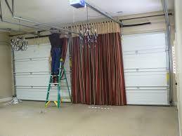 Hide Garage Door With Curtain Google Search Garage Game Rooms