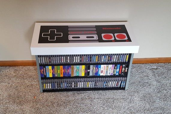 NES Nintendo Coffee Table Bench, Game Storage FREE SHIPPING