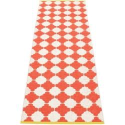 Photo of pappelina Marre outdoor rug – coral red / vanilla with mustard-colored edge 70 x 225cm PappelinaPap