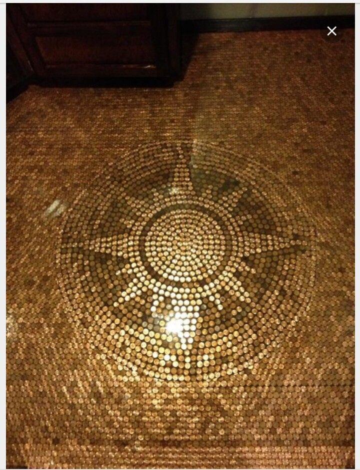 Copper Penny Flooring Home Ideas Penny Floor Designs Penny