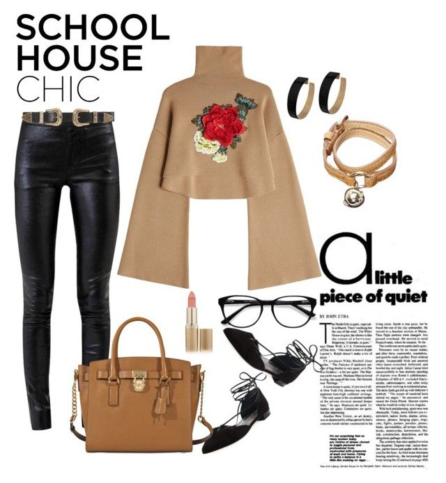 """""""School house chic"""" by iten-aladin ❤ liked on Polyvore featuring Helmut Lang, William Fan, Stuart Weitzman, B-Low the Belt, Zimmermann, MICHAEL Michael Kors, EyeBuyDirect.com, Mulberry and L'Oréal Paris"""