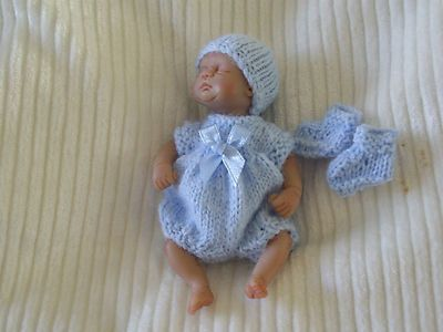 Hand Knitted Dolls Clothes For 4 5 5 Quot Ooak Sculpt Baby