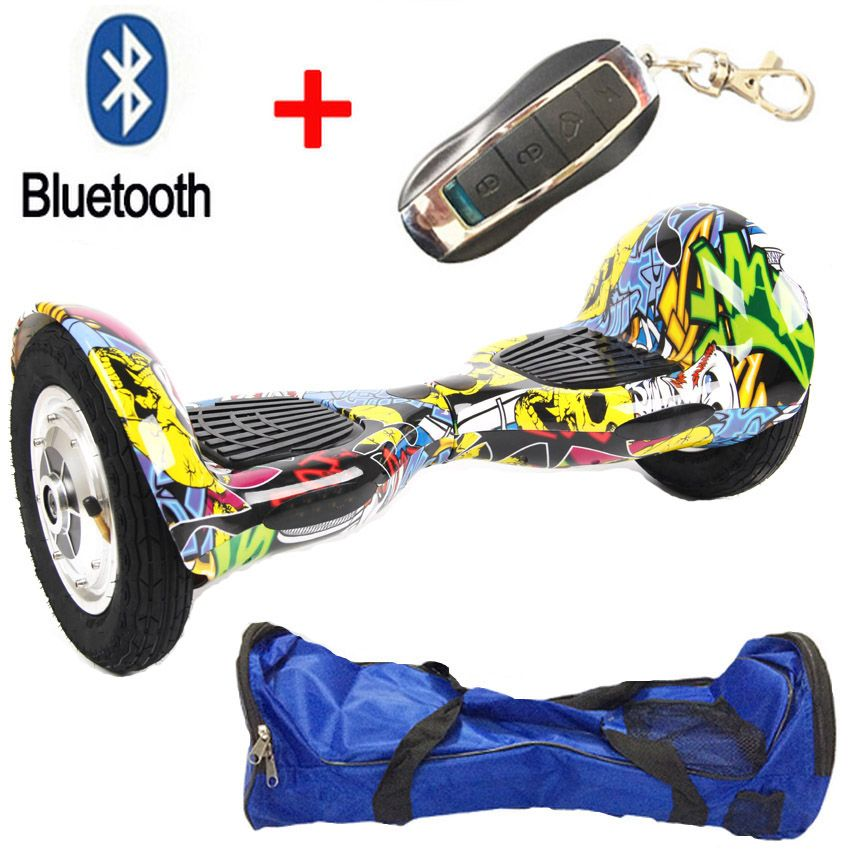 10 Inch 2 Wheel Self Electric Standing Scooter Unicycle Skateboard Hoverboard Bluetooth Remote Bag Hover Board Unicycle Hoverboard Bluetooth Remote