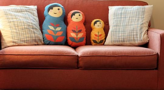 Custom Matryoshka Russian Nesting Doll Pillow Set by Finch&Cotter | Hatch.co