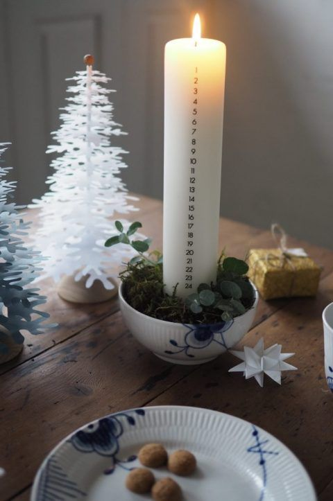 Advent – the Scandinavian way: traditions, nowadays and inspiration for how to easily make a stylish Advent decoration Scandinavian Style #kalenderlysdekorationer