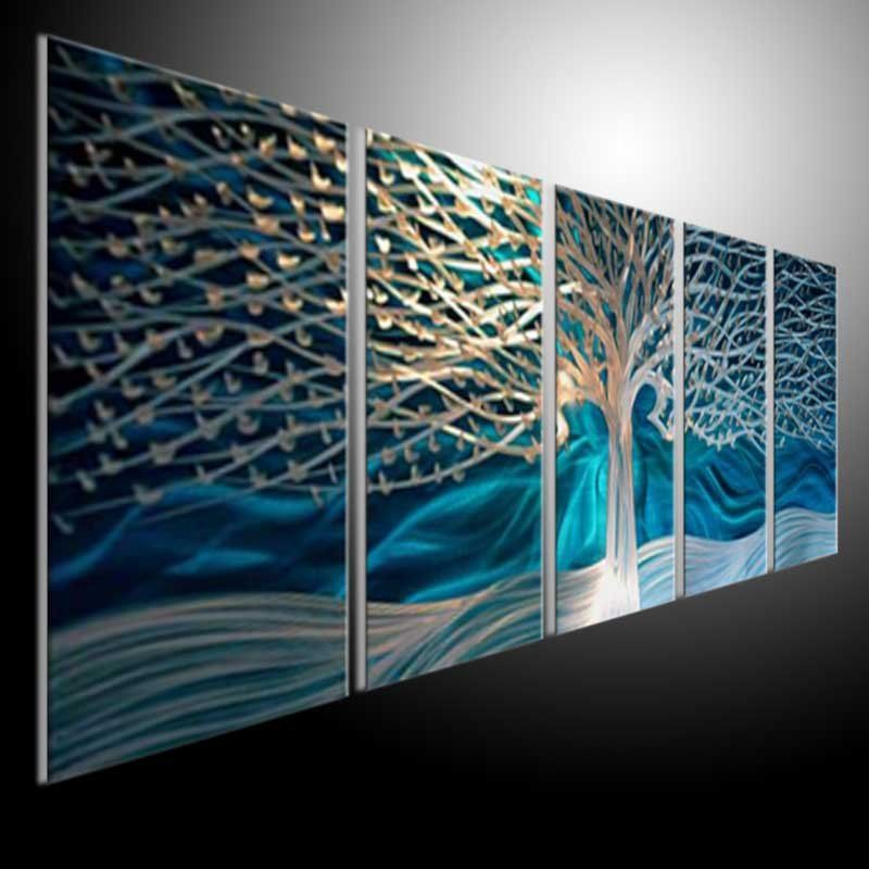 original metal art  blue tree wall sculpture . metal painting wall oil abstract art Refraction line 201207a30-in Crafts from Home Garden on Aliexpress.com ... & original metal art  blue tree wall sculpture . metal painting wall ...
