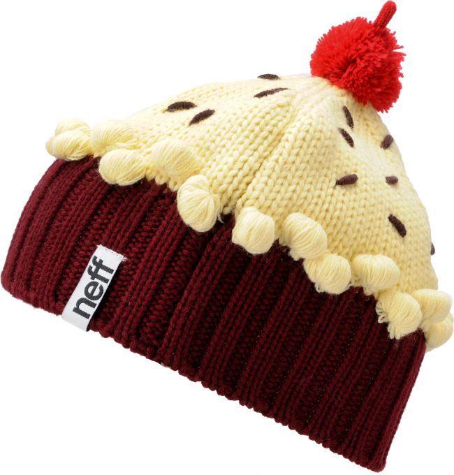 5329f6a90b5 Neff Red Velvet Light Pastel Cupcake Beanie
