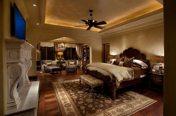 Great Photos Of Master Bedrooms With A Fireplace | Large Master Bedroom With  Fireplace And Cove Lighting Nice Ideas