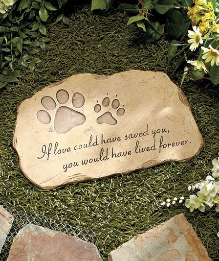 Pet memorial garden stones each cute for those loved ones that you have lost doggie for Garden memorials for loved ones