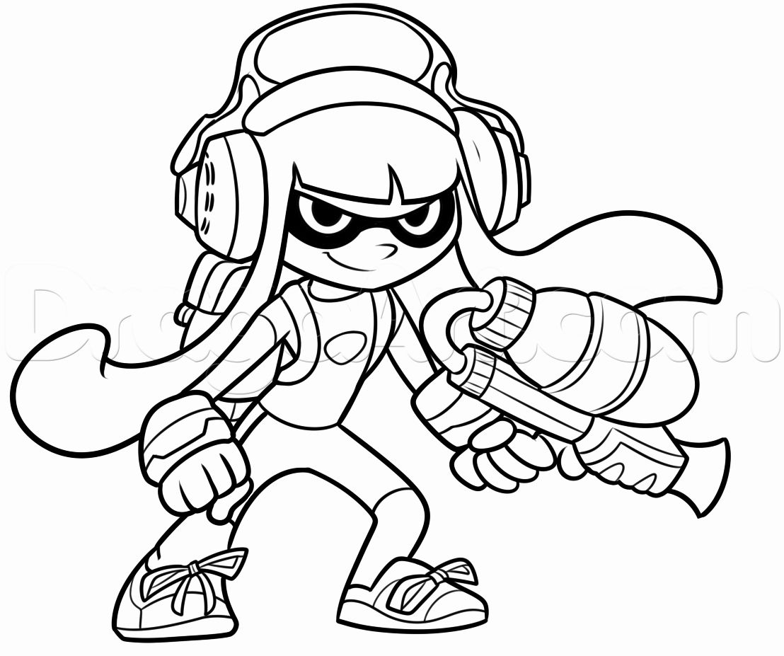 New Splatoon Coloring Pages Inspirational How To Draw An Inkling