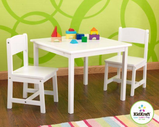 Kidkraft Aspen Table And Chair Set White Amazon Com Toys Games Kids Table Chair Set Table And Chair Sets Wooden Table And Chairs Kidkraft table and chairs white