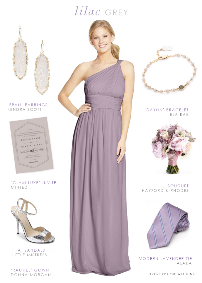 4c29e498c07 Lilac Gray Bridesmaid Dresses. This pretty mix of pale purple and light  gray leaves us with lilac gray