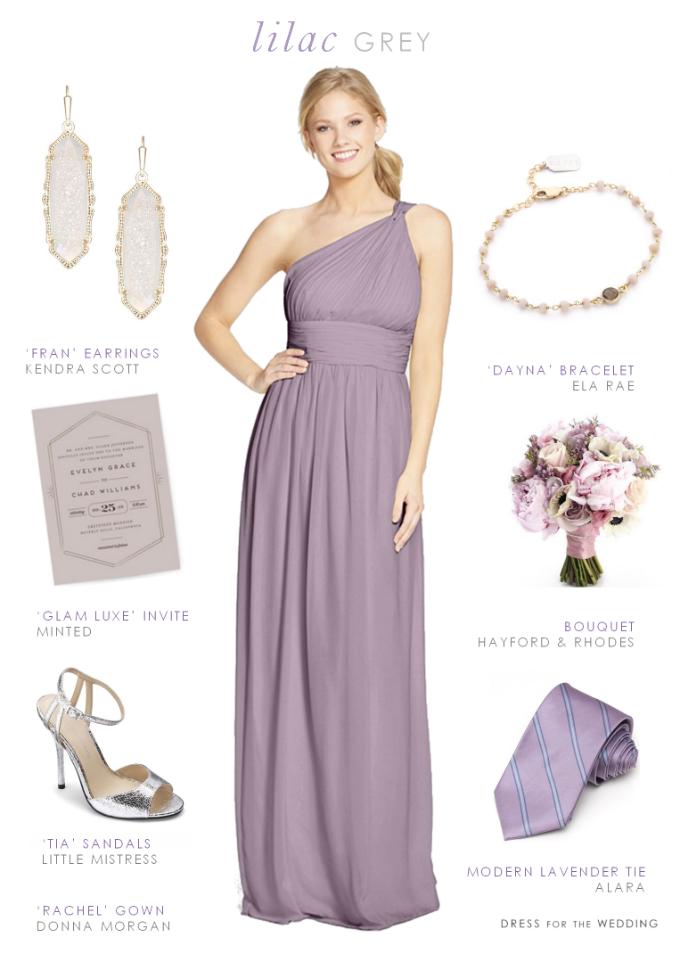 Lilac Gray Bridesmaid Dresses | Purple Maids | Pinterest ...