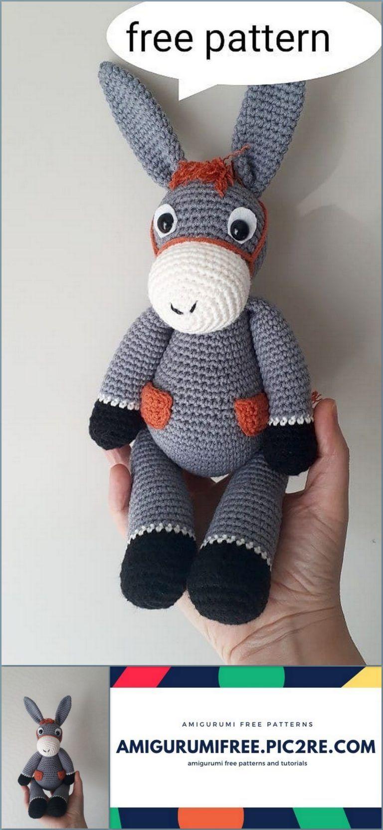 Amigurumi Donkey Crochet Free Pattern – Free Amigurumi Crochet | 1664x768