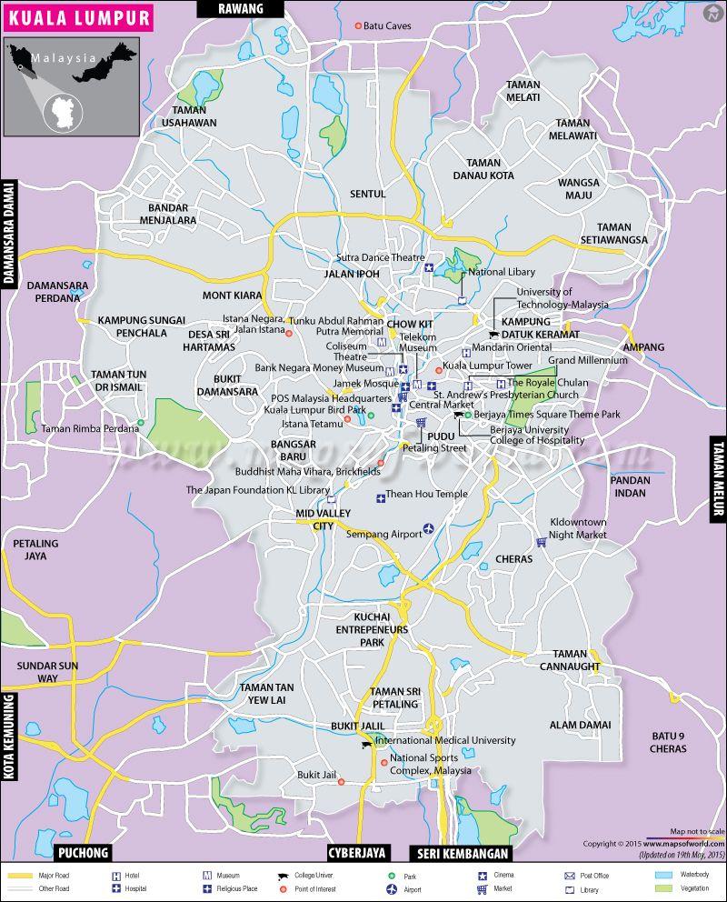 Kuala Lumpur Malaysia Map: Business, Technology, Sports And