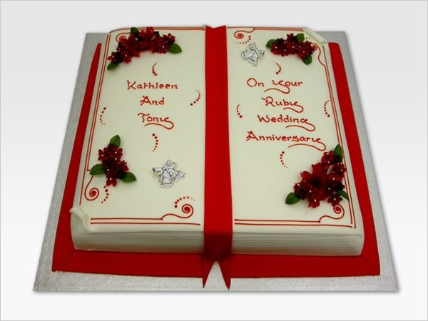 book shaped cakes with flowers Open Book - Occasion ...