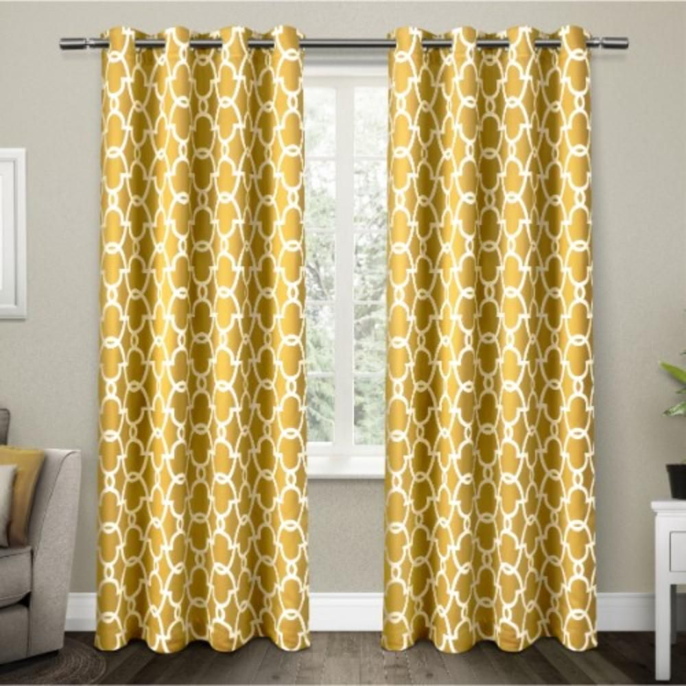 Gates 52 In W X 108 In L Woven Blackout Grommet Top Curtain