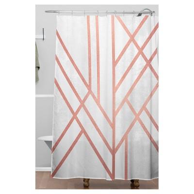 Stripe Shower Curtain Gold
