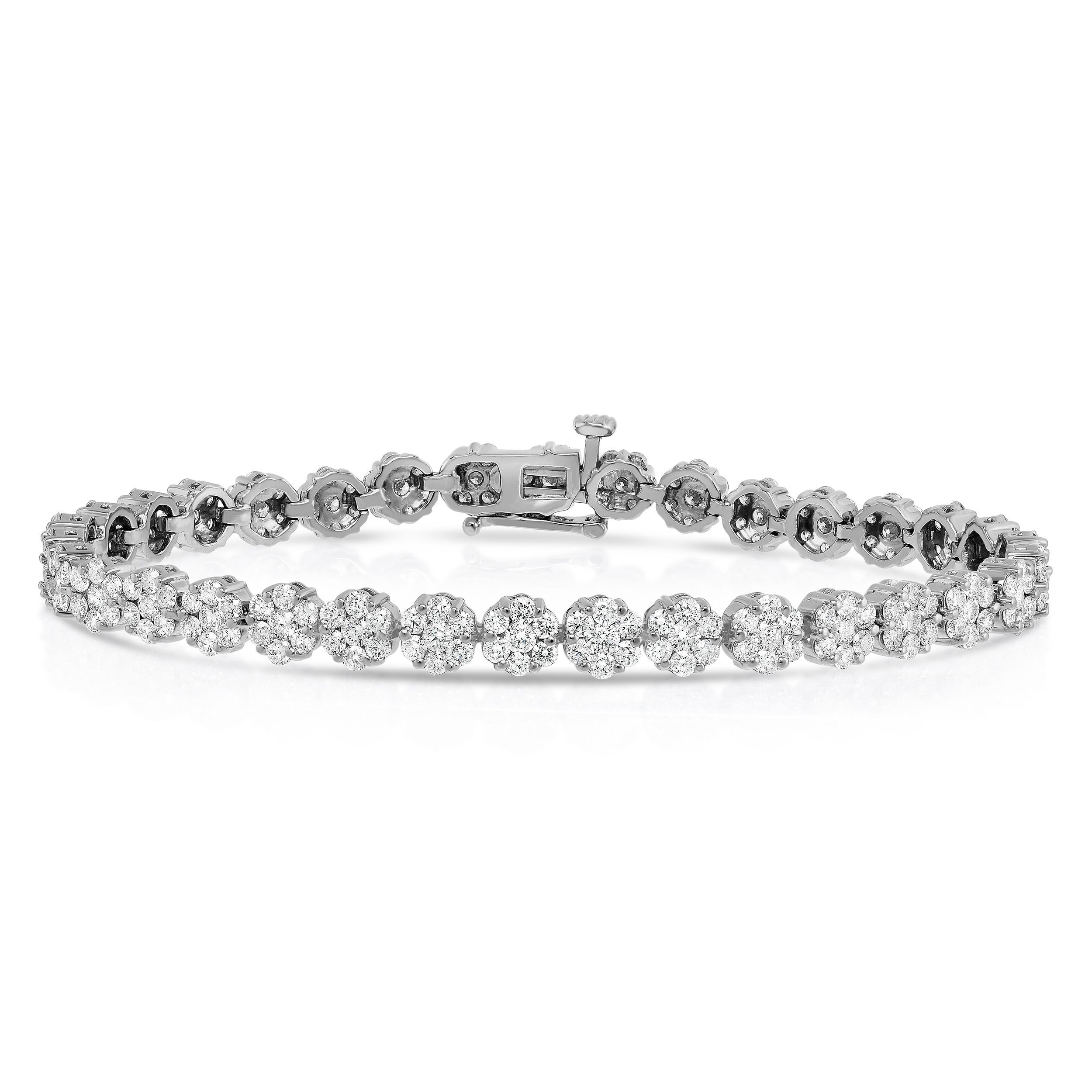 2 20 Carat Clic Tennis Bracelet 14k White Gold Value Collection Houston Diamond District
