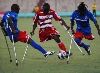 One Legged football - Playing football like a boss