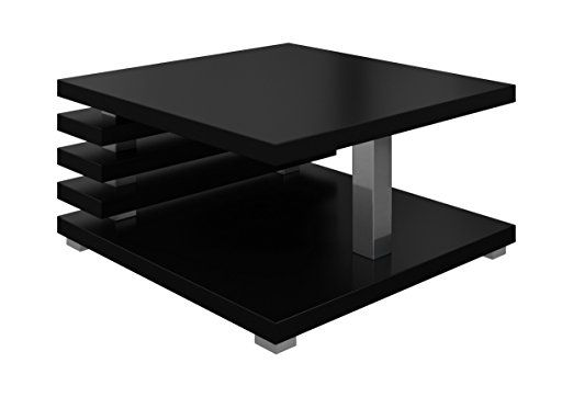 Coffee Table Living Room Oslo 60 X 60 Cm Matt Black Coffee