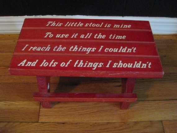 Vintage CHILDu0027S Little RED Step Stool with Saying by terrysgotit & Vintage CHILDu0027S Little RED Step Stool with Saying by terrysgotit ... islam-shia.org