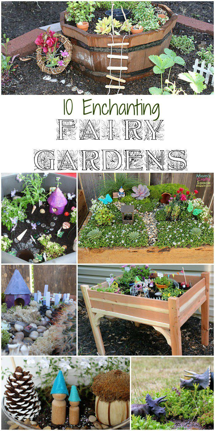 10 Enchanting Fairy Gardens Diy Ideas Pinterest Fairy Garden