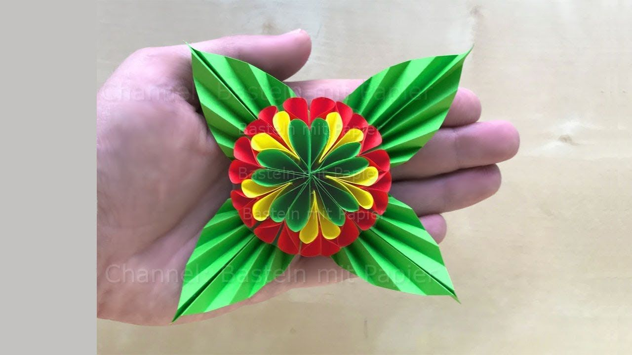 Paper Flower How To Make An Easy Flower Using Origami Paper