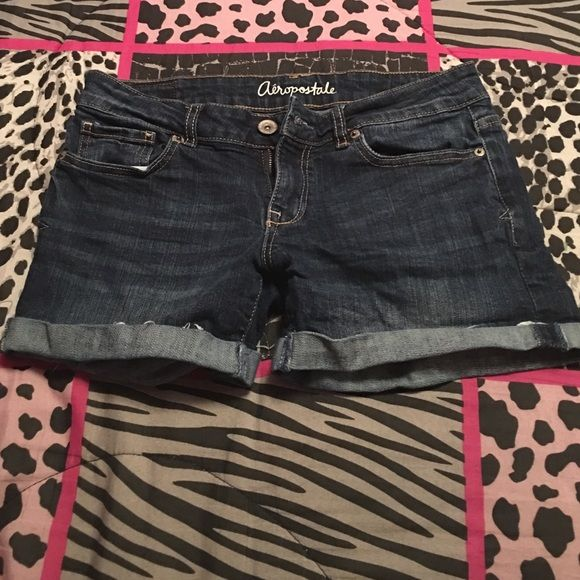 Aeropostale Jean Shorts - denim  - SIZE 4 - worn a couple times  - Areopostale  - cuffed at the bottom  #areopastleshorts Aeropostale Shorts Jean Shorts