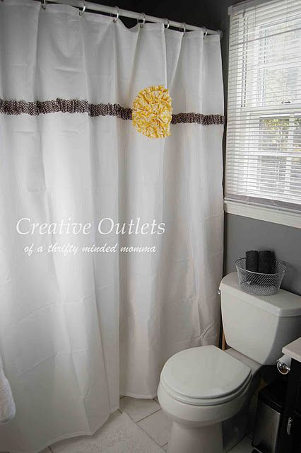 Showcase Features Creative Ideas Projects And Giveaway Winners Announced With Images Diy Shower Curtain Shower Curtain Decor Ruffle Shower Curtains