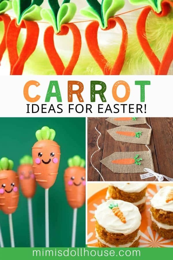 Carrot Crafts and Dessert Ideas just in time for Easter!      With all the talk of Easter bunnies, we can't forget to celebrate every bunny's favorite food! Let's craft with Easter carrot decor. There are so many amazing carrot crafts and delicious carrot themed desserts you can make to create an amazing carrot filled party, or even just accent your Easter table. Check out all the orange-y goodness! #carrot #easter #party #easterparty #partyideas #parties #holiday #kids #baking #crafts...