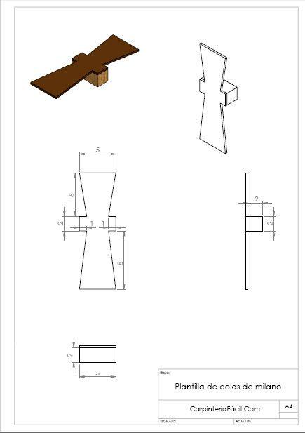 plantilla de cola de milano con mini plantilla R HFS