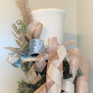 Peacock and Gold Christmas Bow - Christmas Tree Topper Bow - Peacock and Gold Tree Topper - Peacock and Gold Tree Top - Christmas Decoration -   14 rustic christmas tree topper burlap bows ideas