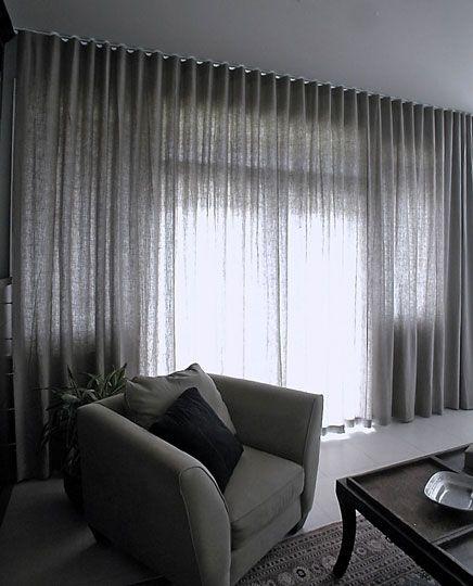 Details about Luxury Herringbone Tweed Silver Grey Curtains ...