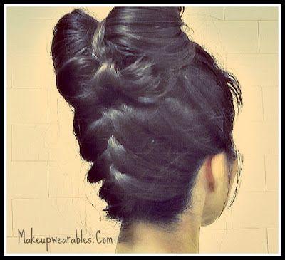 Upside Down Braid Bun With Hair Bow Hairstyle French Braid Style - Bun hairstyle games